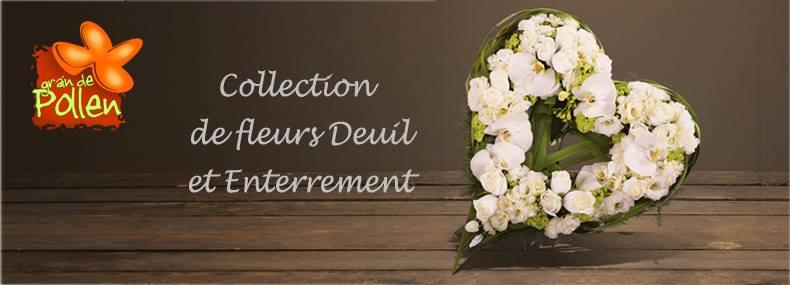 Collection fleurs de deuil et enterrement
